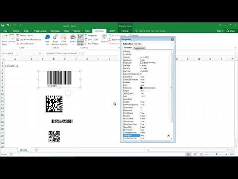 How To Create Barcode In Excel 2016 Youtube Create Barcode Excel Barcode