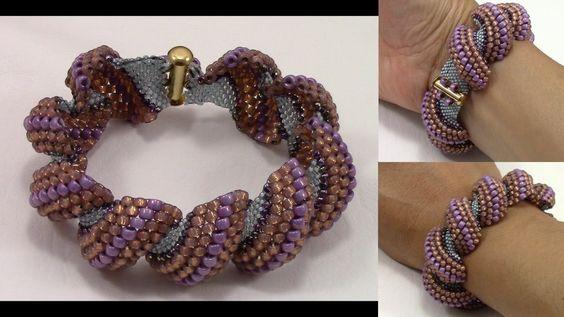 How to Finish Flat Cellini Stitch Bracelet