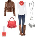 Love coral and brown