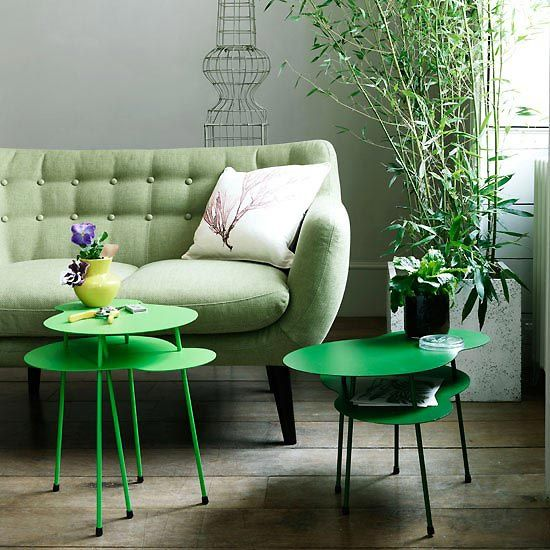 Side Tables Occasional Furniture in Pantone Colour of the Year 2017 Greenery