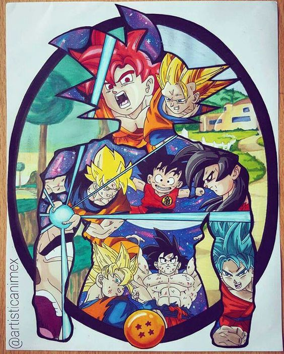 Mural arte goku c manga pinterest goku and murals for Dragon ball z mural