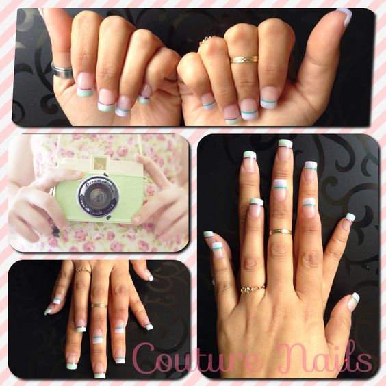 #Letit #Couture #Nails ! #Lovely tonos #Pastel #Diseño en #uñas