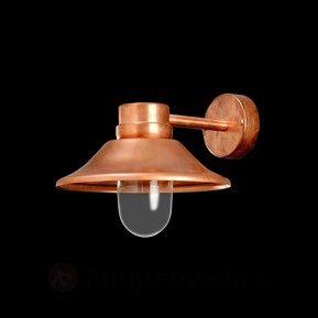 Glänzende LED Außenwandleuchte Vega Kupfer