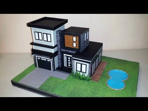 Diy Miniature Modern House Not A Kit Youtube Modern House