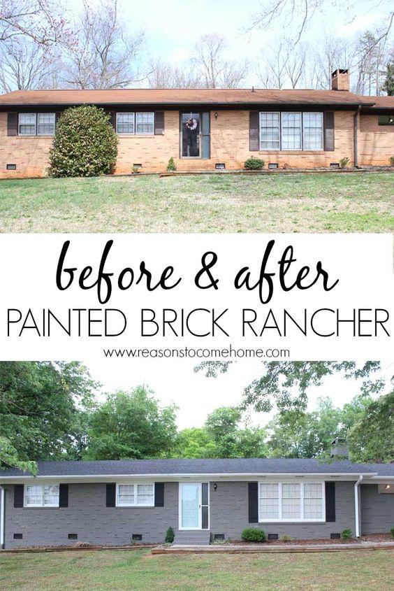 behr paint painted bricks paint brick ranch behr painted brick ranch. Black Bedroom Furniture Sets. Home Design Ideas