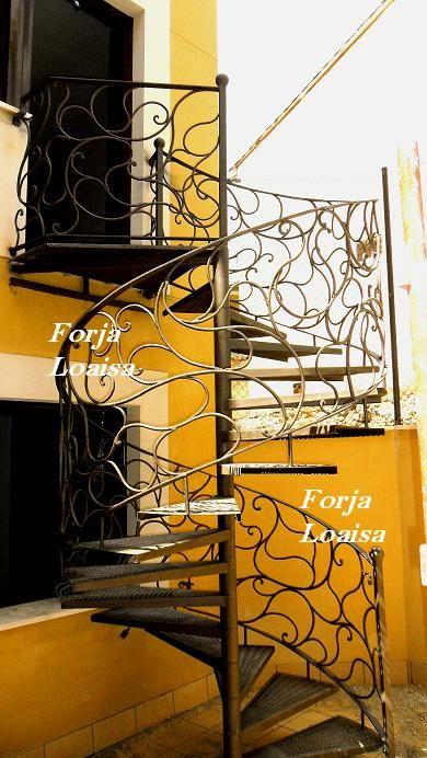 Escalera de caracol barandillas pinterest - Ver escaleras de caracol ...