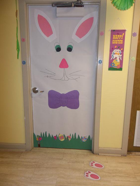 Easter time classroom door decoration puertas decoradas for Decoracion para puertas