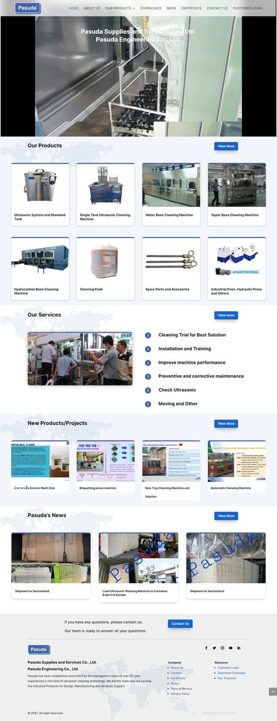 ออกแบบเว็บไซต์ บริษัท พศุดา ซัพพลายส์ แอนด์ เซอร์วิสเซส จำกัด
