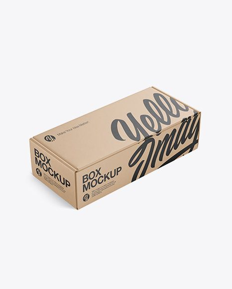 Download Kraft Paper Box Mockup Half Side View High Angle Shot In Box Mockups On Yellow Images Object Mockups Mockup Free Psd Box Mockup Free Psd Mockups Templates