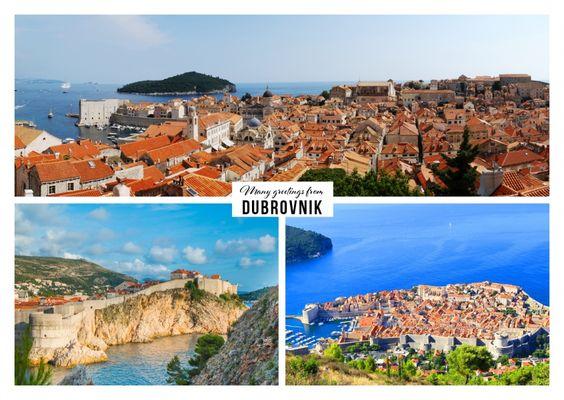 viele Grüsse aus Dubrovnik | Urlaubsgrüße | Echte Postkarten online versenden…