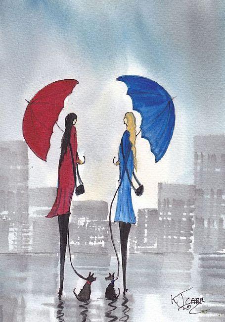Art: дъждовен ден Walkies по изпълнител KJ Кар: