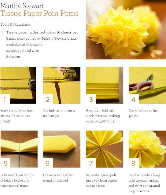 DIY mini Tissue poms