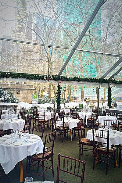 Bryant Park Grill in NYC. My favorite place to dream there.