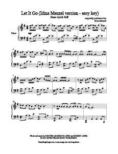partition piano let it go idina menzel