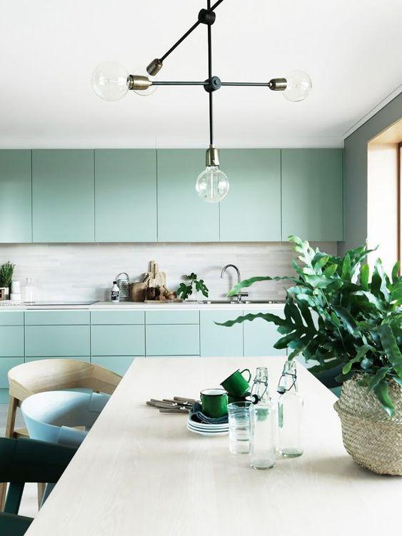 mint yeşili ev dekorasyonu