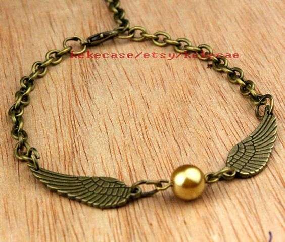 Golden Snitch BraceletHarry potter braceletBronze by kekecase, $1.59