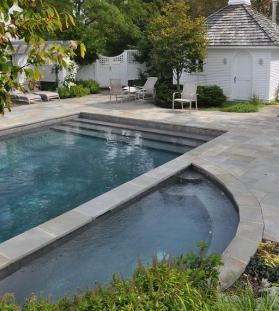 Differing geometric designs for pools