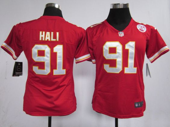 Women's Nike NFL Kansas City Chiefs #91 Tamba Hali Red Jerseys