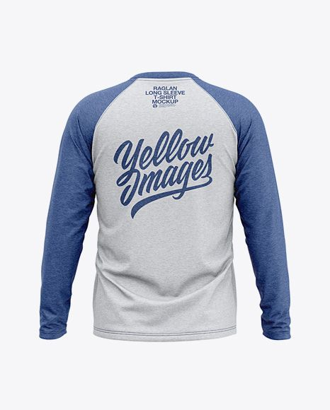 Download Men S Heather Raglan Long Sleeve T Shirt Mockup Back View In Apparel Mockups On Yellow Images Object Mockups Shirt Mockup Clothing Mockup Design Mockup Free