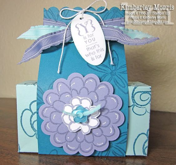 procrastistamper.blogspot.com: Cards Stamping, Gift Boxes, Boxes Favor, Box Featuring, Card Ideas, Paper Crafts, Ideas Paper