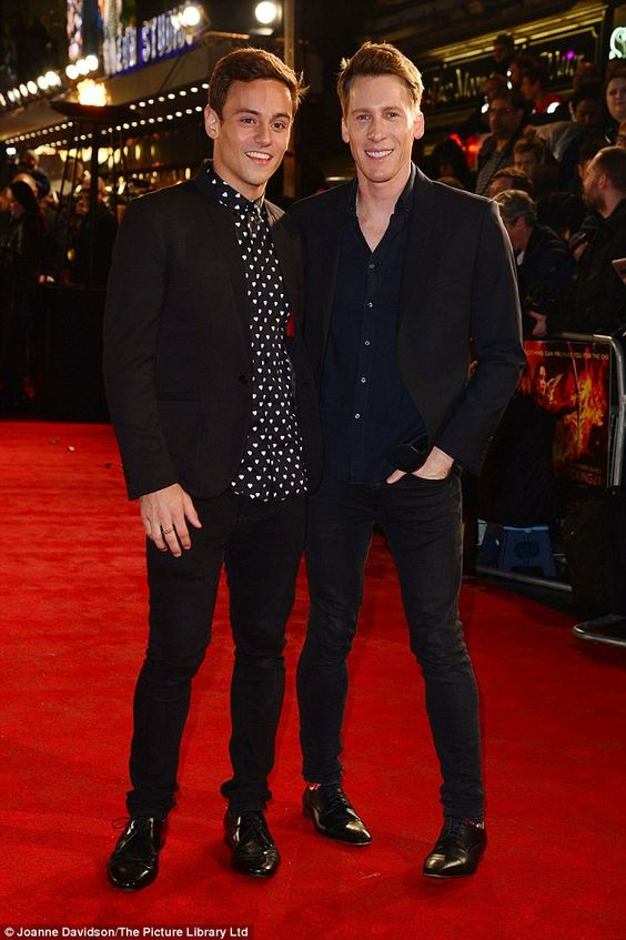 Dustin Lance Black pictured with faince Tom Daley