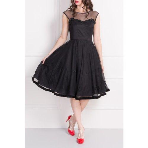 Black Floral Doll Dress