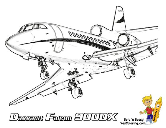 Exclusive Lavish Airplane Printables any kids can color. Print ...