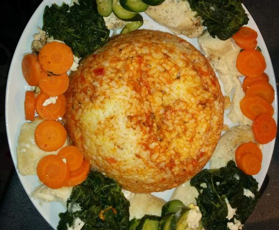 Recette poulet, riz bolognaise et petits légumes par kass51 - recette de la catégorie Plat principal - divers
