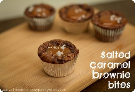 Salted Caramel Brownies...Delicious...I know some of you are cringing, but really don't knock it till you try it.