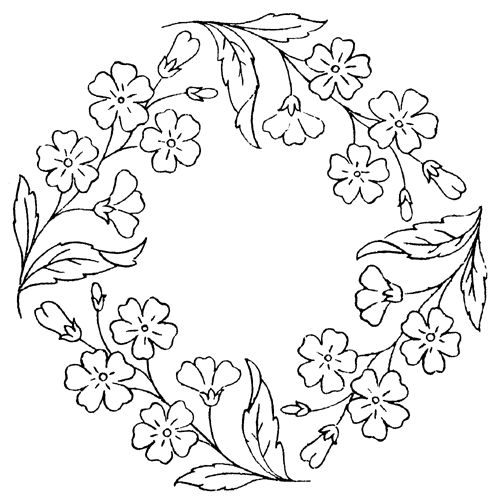 rose garland coloring pages - photo#5