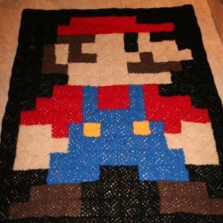 Mario Blanket Crochet Pattern Free : Blanket MARIO Patterns, Blankets and Crochet