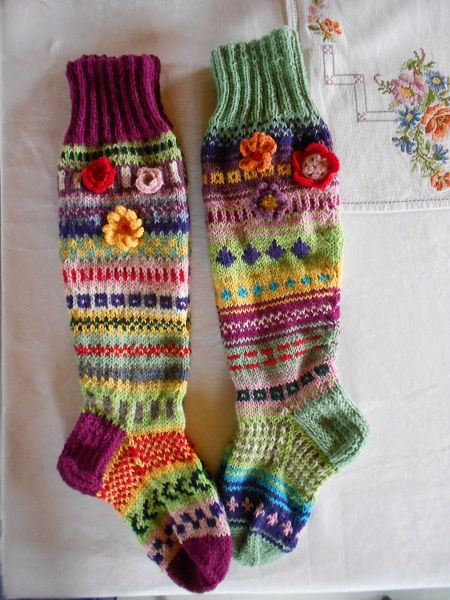 villaiset polvisukat (коляното дължина чорапи):
