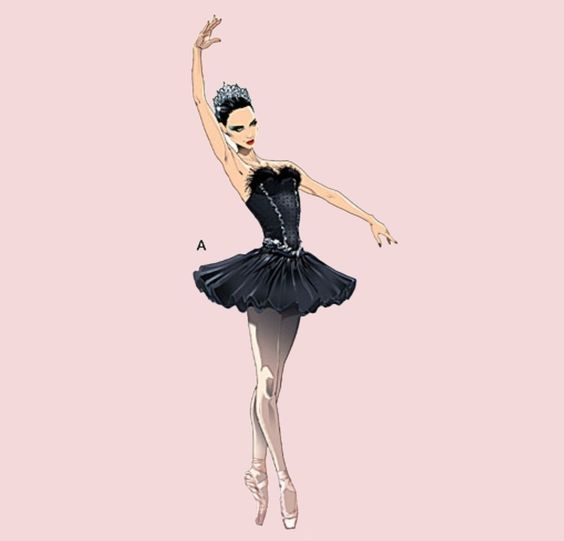 pin the tutu on the ballerina template - sewing patterns ballet and sewing on pinterest
