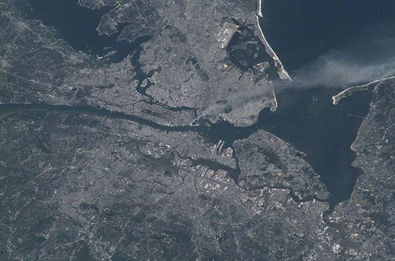 11 years ago when this terrorist attack happened , NASA's Astronaut Frank Culpertson was the only American not present on planet Earth. He managed to capture the aftermath of the attack by power photo above New York City from the international space station. The image shows the smoke plume rising from World trade Center .
