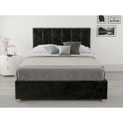 Moyle Upholstered Ottoman Bed Brayden Studio Colour Black Size Small Double 4 In 2020 Ottoman Bed Upholstered Ottoman Ottoman Storage Bed
