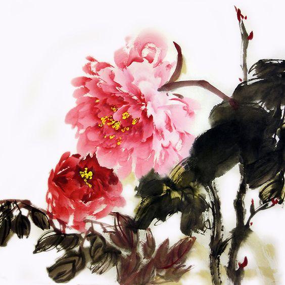 """29 марта в 16:00 мастер-класс китайской живописи по теме """"Пион"""" :: События :: Клуб «Две империи»"""