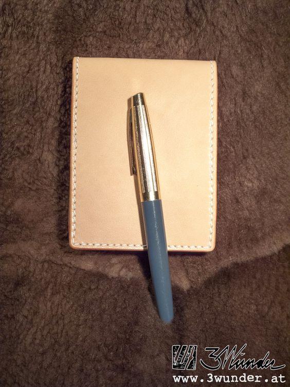 Notizblock-Hülle aus Leder von 3wunder / Leather Notepad Cover by 3wunder