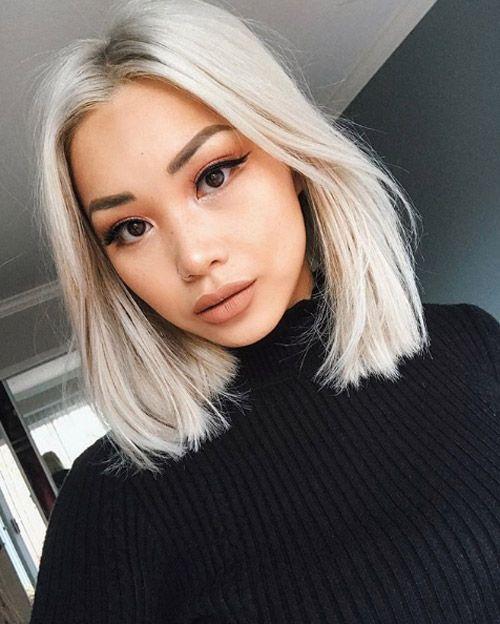 Ziemlich Pflegeleichte Lob Haarschnitte Fur 2018 Neue Besten Frisur Short Hairstyles For Thick Hair Blonde Asian Hair Hair Styles