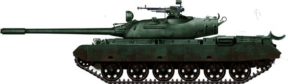 Late TR-77, with the elongated turret model, TR-85M1  1985.