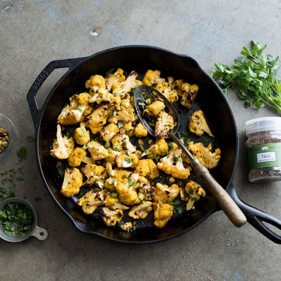 This wonderful charred cauliflower vegetable side dish is crunchy, fresh and pairs great with the smoky flavors of applewood smoked salt.