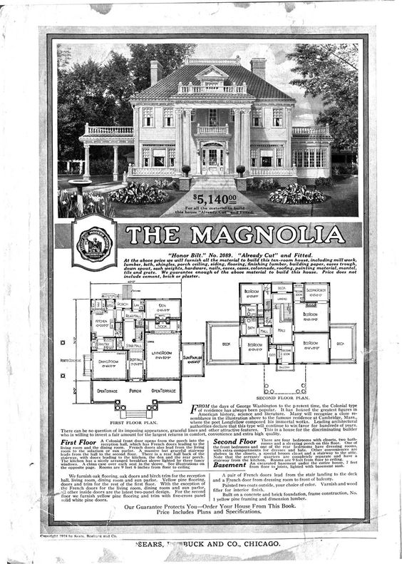 The Magnlia! 1915-1920... AMAZING! Sleeping porch.. Den, Livingroom, book nook, and soooo much more! My dream Home!