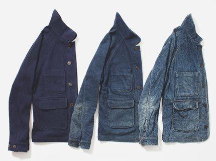 Apolis Indigo Chore Jacket fade over time.