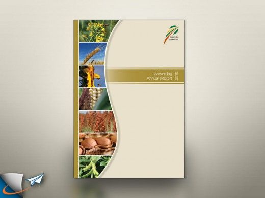 ANNUAL REPORT Real estate agency Design  - annual report cover template