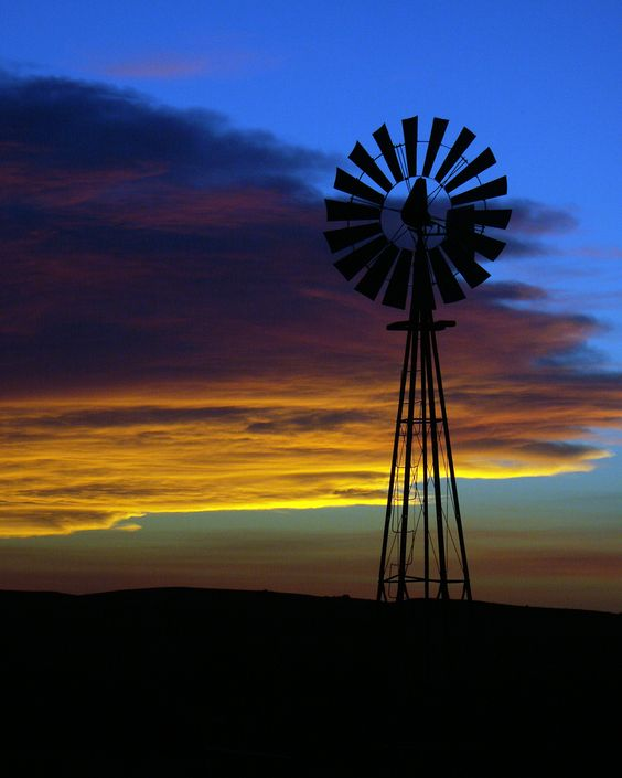 Ord Sunset | Nebraska windmill