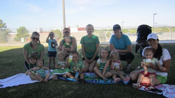 Plum kids from @Stroller Strides of Yuma, AZ enjoying their Plum after story time on Earth Day!
