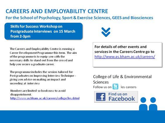 Skills for Success Workshop on Postgraduate Interviews Events - interview workshop