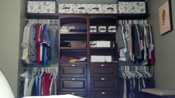 allen and roth closet organization system we bought from lowes and built modified them. Black Bedroom Furniture Sets. Home Design Ideas