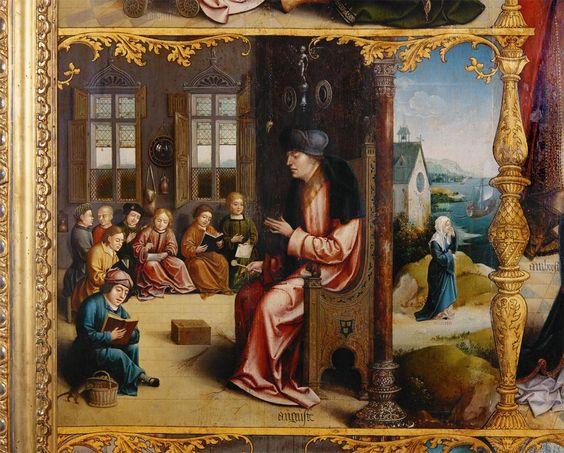 """St. Augustine Teaching Rhetoric,"" Jan van Scorel (1495-1562)   andrew mcmurry"