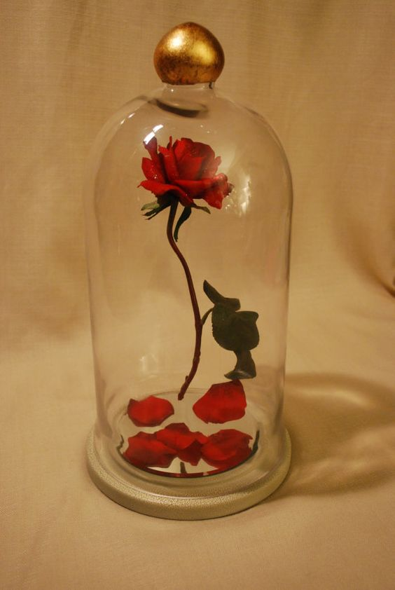 Enchanted floating rose reproduction fairy tale prop
