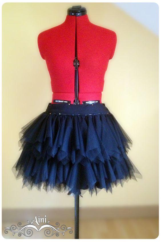 tuto jupe en mouchoirs de tulle couture pinterest tulle et tuto jupe. Black Bedroom Furniture Sets. Home Design Ideas